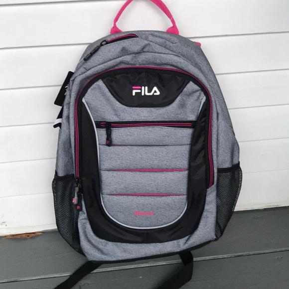 FILA backpack grey-pink-Black NWT  40-final drop