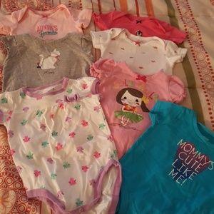 7 baby onesie tops