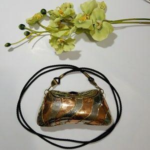 Handbags - 70s Mexican Metal Crossbody