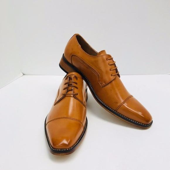 956c6e817 Men s Amali Tan Dress Shoes Smooth Cap Toe NEW