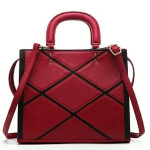 Pink Haley Acacia Patch Work Satchel in Wine