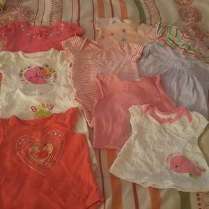 Newborn baby girl bundle tops