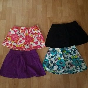 Lot of 4 children's place skorts youth Large