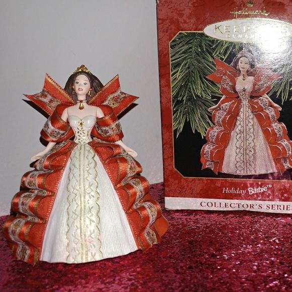 Barbie Christmas Ornament.Hallmark Vintage Barbie Holiday Ornament Series 5