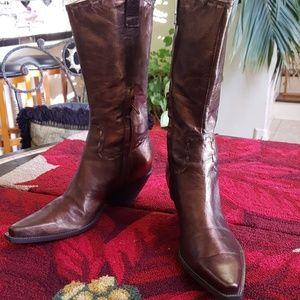 BCBGirls Metalic  Bronze , Cowboy boots, 8