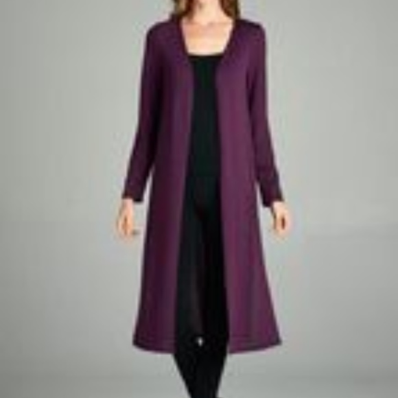 Emerald - Lightweight Purple Duster Cardigan from Chrystal's ...