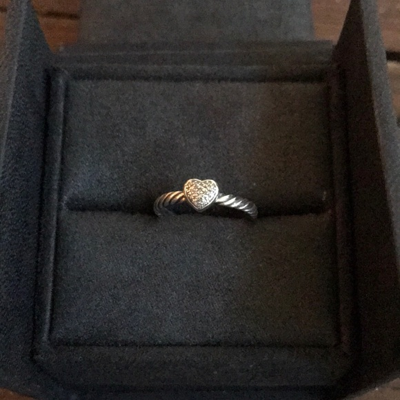 13ff7e8c246ca3 David Yurman Jewelry | Petite Pave Heart Ring With Diamonds | Poshmark