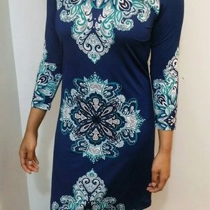 Paisley printed dress