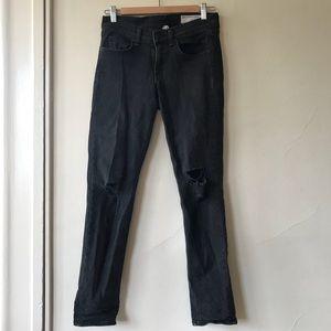 Rag & Bone Dark Gray Boyfriend Jeans