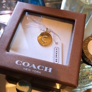 Authentic Coach Gold Monogram Necklace