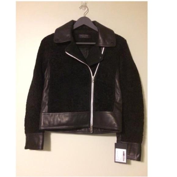 a13726627 New! Rag & Bone Billie Leather & Shearling Jacket