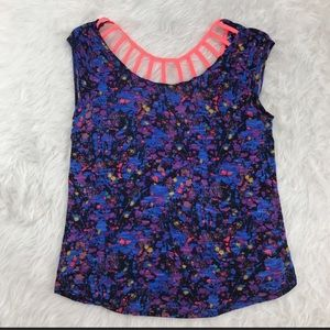 Kirra paint splatter neon shirt