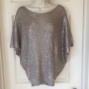Matty M taupe sequin top size m