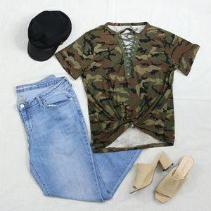 Tops - Devin Casual Camo T-Shirt