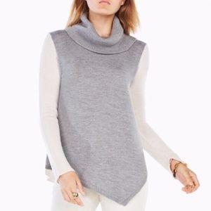 BCBG Waris Color-Blocked Turtleneck Sweater, Large