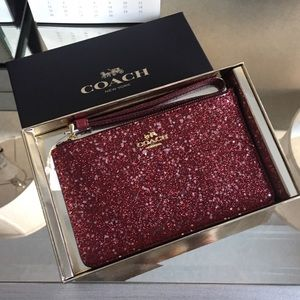 Coach Boxed Star Glitter Wristlet