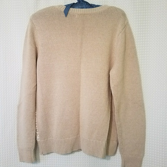 50% off Liz Claiborne Sweaters - Liz Claiborne Tan & White Sweater ...