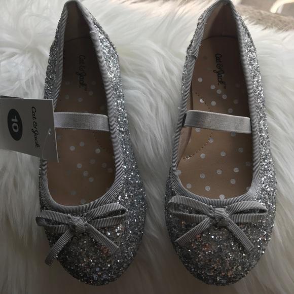 b3a99c366d1f Girls' Cacey Glitter Ballet Flats Cat & Jack. M_5a233161f09282be8004d9ab