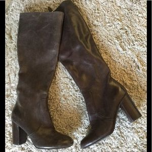 Via Spiga chocolate brown leather boots