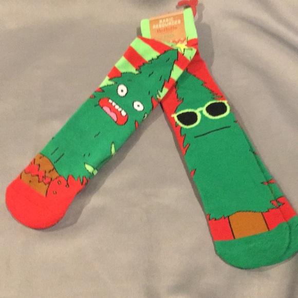 nwt basic resources 2pk funny christmas tree socks - Funny Christmas Socks