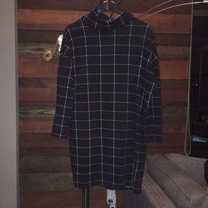 River Island black check sweater dress
