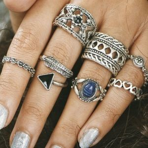Boho Knuckle/Midi Ring Set