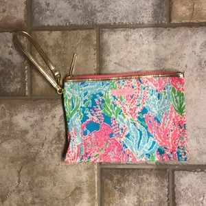 Lilly Pulitzer fabric pouch wristlet