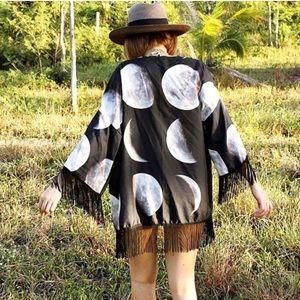 Jackets & Blazers - Moon kimono eclipse lunar cycle solar universe top