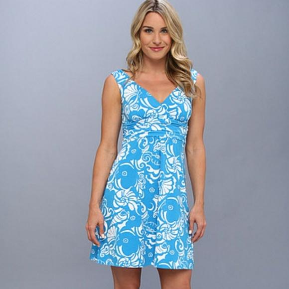 Lilly Pulitzer Shianne Dress Ariel Blue Tide Pools
