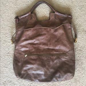 """Anna Corinna Glazed Leather Big """"City"""" Bag Tote"""