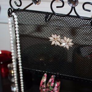 50 off Macys Jewelry Black Metal Jewelry Organizer from mel j