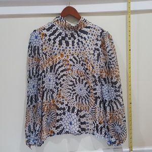 Malandrino silk patterned blouse