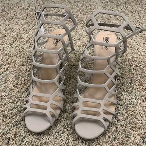 Merona Tan Caged Heels