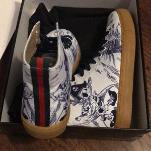 732479993407 Gucci Shoes - Men s Sea Storm print high-top sneaker