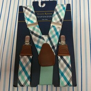 Club Room Suspenders one size Turquoise/Mint