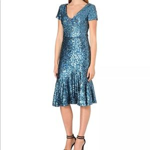 French Connection FCUK sequins fishtail dress NWOT