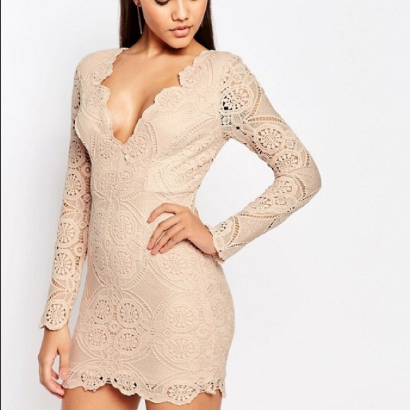 1d18735388 Love Triangle v neck lace mini dress from Asos