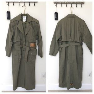 Vintage Together! | Army Green Trench Coat | L