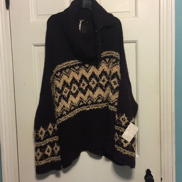 78% off Free People Sweaters - Free People fair isle split neck ...