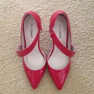 Size 6.5 Red Patent Leather Heels
