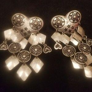 JEWELMINT Silver Post Dangle Earrings