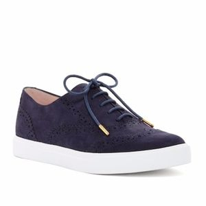 Kate Spade Oxford Suede Sneaker Navy Blue
