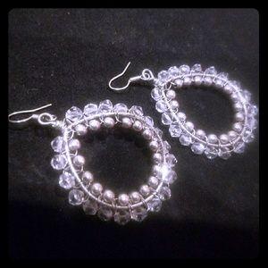 JEWELMINT Wire Wrapped Crystal Earrings