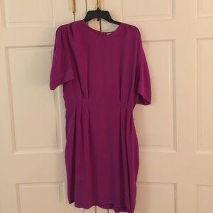 Stella McCartney purple silk dress 10/12 AS IS