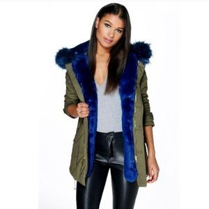 Maria Faux Fur Trim Parka