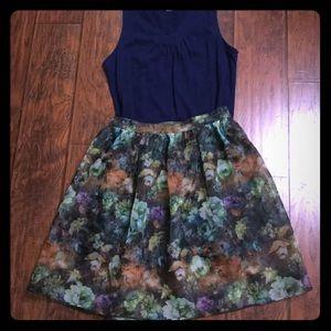 Dresses & Skirts - Sheer Flower Skirt and Dress