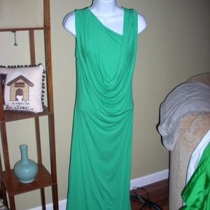 NWOT Fraiche by J made in USA green dress, S
