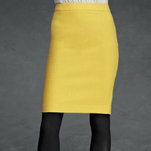 CAbi Yellow Curry Pencil Skirt