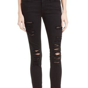 Frame le skinny de jeanna in black