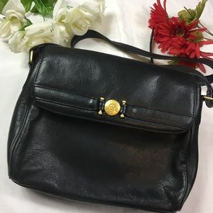 Etienne aigner genuine leather crossbody purse